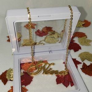 """NWT """"Nina"""" Necklace Chain Plated in 24k"""